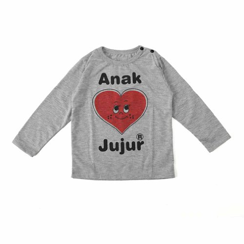 "Anak Jujur (""Happy Child"") - Tee-Shirt - Long Sleeve - Smiley Heart Design"