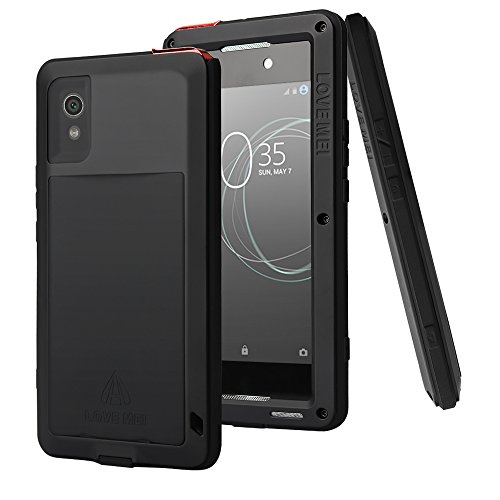 Aluminum Metal Bumper Case Shockproof Cover for Sony Xperia XZ Black - 4