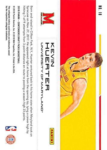 Basketbal Verzamelkaarten, ruilkaarten 2018-19 Contenders Draft Picks School Colors #18 Kevin Huerter