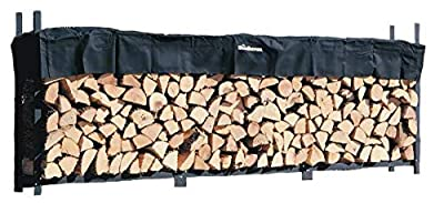 Woodhaven The 12 Foot Firewood Log Rack with Cover
