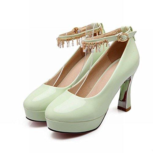 Latasa Femmes Élégant Cheville-sangle Talon Haut Robe Plate-forme Pompes Chaussures Vert