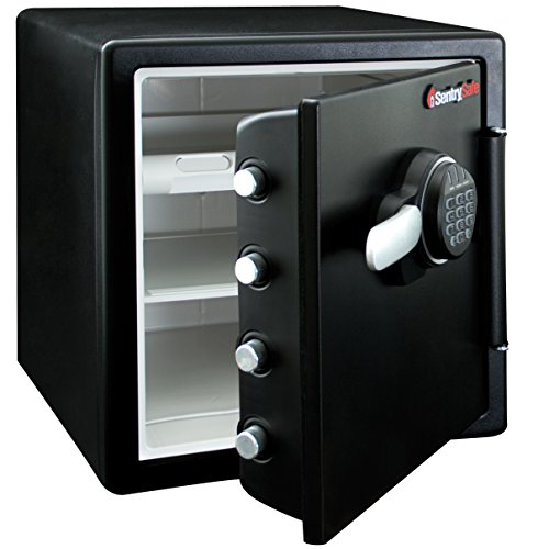 SentrySafe Fire Resistant and Water Resistant Safe, Advanced Protection for the Irreplaceable, 1.23 Cubic Feet, SFW123FUL by SentrySafe