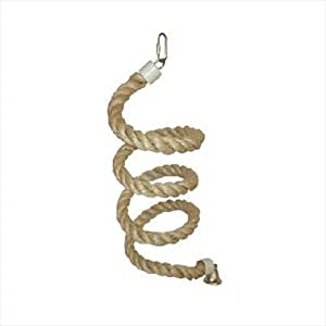 Small Sisal Rope Boing Bird Toy with Bell