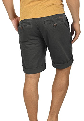 Homme 100 Pantalon Court Grey Coton Short Régulaire Chino Dark Viseu solid 2890 Bermuda Coupe I10YxT0q