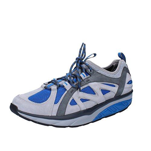MBT Fashion Sneakers Man 8,5 US/42 EU Gray Blue Textile Nabuk