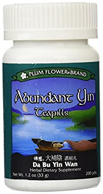 Abundant Yin Teapills (Da Bu Yin Wan), 200 ct, Plum Flower
