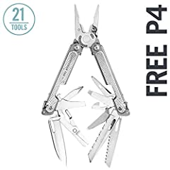 Leatherman FREE P4 represents years of consumer feedback and engineering testing, giving you the best multipurpose plier experience to date. Each of its 21 tools is held closed by FREE's magnetic architecture and opens with a push of t...