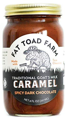 Fat Toad Farm Traditional Goats Milk Caramel Sauce, Spicy Dark Chocolate, 8fl oz Jar