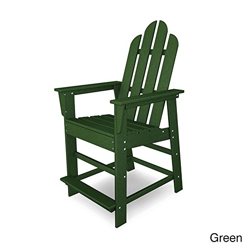 Footrest Adirondack Style (POLYWOOD ECD24GR Long Island Counter Chair, Green)