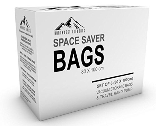 "Space Saver Vacuum Storage Bags - Great Value - Five Year Warranty - Who Else Is Offering You This Kind of Warranty? (24"" x 32"")"
