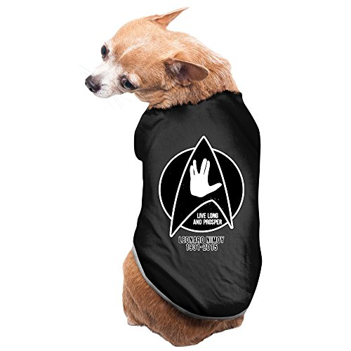 Star Trek Costumes Book (Leonard Nimoy Star Trek Design Dog Costume 100% Polyester Fiber Pet)