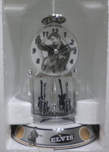 Elvis Porcelain Base Anniversary Clock