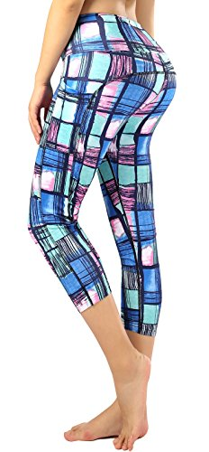 Sugar Pocket Women Running Yoga Pants Patterned Capris XL(06) ()