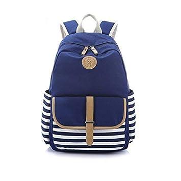 927d33342781c Danny®Französischer Breton nautischer gestreifter Rucksack Marine Sailor  Marine Stripy Tasche für Teenager Leichte niedliche