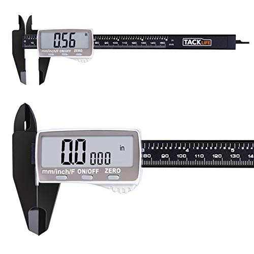 - Digital Caliper 6 Inch with Larger LCD Display, Inch/Fractions/Millimeter Conversion for Small DIY and Homework, Coin Battery included - DC01