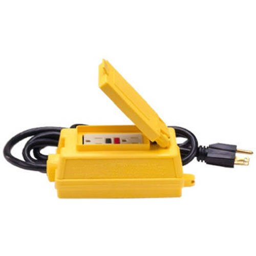 ALERT STAMPING & MFG 4115-6-GFCI Portable GFCI Duplex Receptacle with 6-Feet 12/3 SJT -