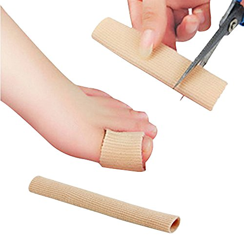 Happy Hours - 1 Pcs Silicone Tube Sleeves Protector Separators for Bunions Sore Toes and Fingers, Corn, Blisters Fits for Dancer, Athletes, Yoga(Size: S) -