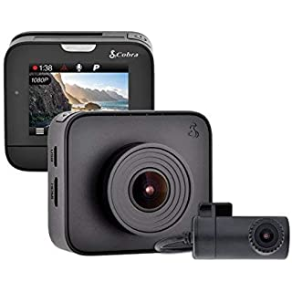 Sale Off Cobra Drive HD Dash Cam DASH2216D Feat.1080p Full HD Front Cam and 720p HD Rear Cam 16GB MicroSD Included with G-Sensor Auto Accident Detection Loop Recording 160 Degree Ultra-Wide Angle DVR