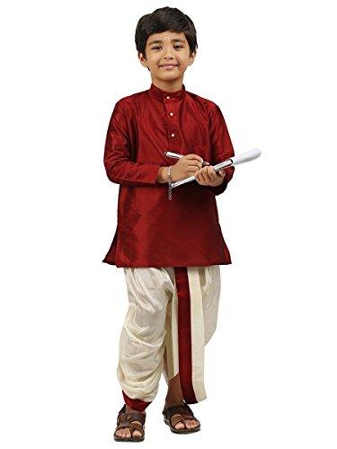 Dhoti Kurta (Kids-Boys-Kurta-Dhoti-Set-Indian-Ethnic-Cultural-Fancy-Party-Dress-Cotton)