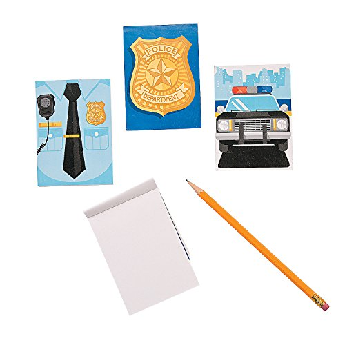 Fun Express Paper Police Party Notepads Toy