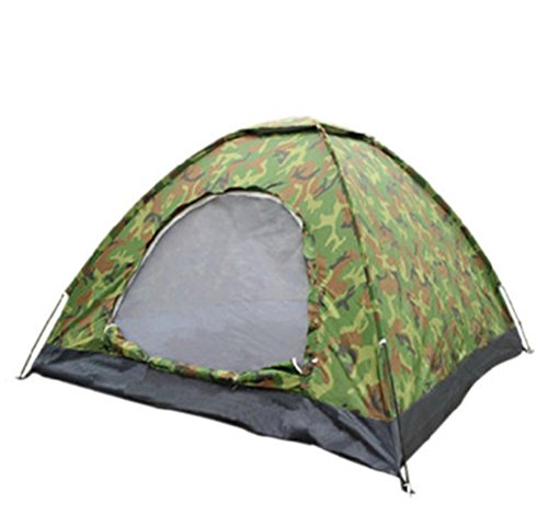 QAZSE Outdoor Double Single Armee Grün Camouflage Zelt 3-4 Camping Wild Camping UV