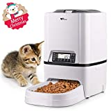 amzdeal Automatic Cat Feeder - 6L Pet Feeder Dog Food Dispenser with Time and Meal Size Programmable, LCD Display and Meal Call Recorder Up to 4 Meals A Day