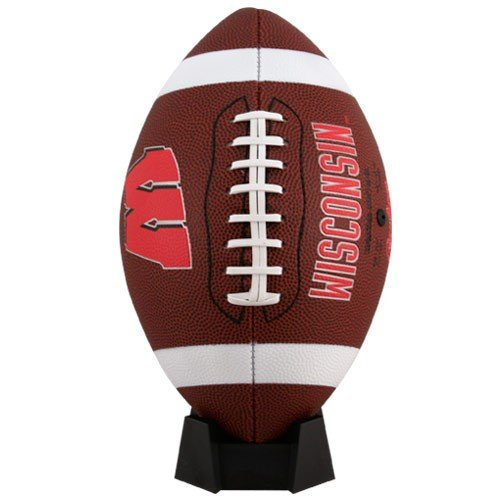 (NCAA Game Time Full Size Football , Wisconsin Badgers, Brown, Full Size)