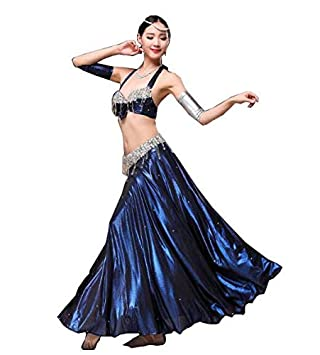 Huaishu Danza del Vientre de la Mujer Traje Adulto de Abalorios ...