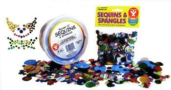 Hygloss Products Sequins and Spangles Variety Pack- Add Shimmer and Shine to Any Surface- 4 Ounce (Halloween Shaker Card)