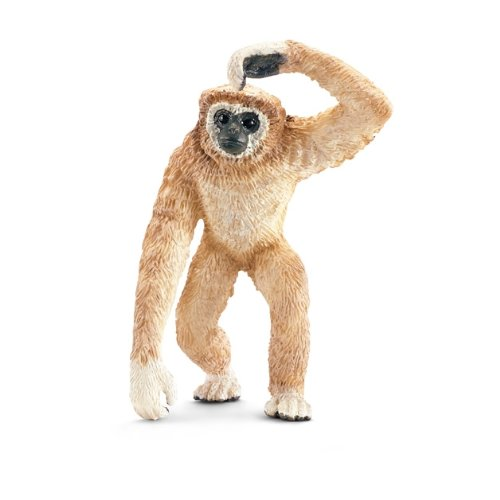 Schleich Adult Gibbon Toy Figure - Gibbon Monkey