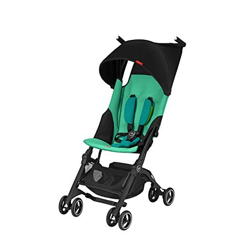 gb Pockit+ Lightweight Baby Stroller, Umbrella Stroller, Collapsible, Travel-Friendly, Folds into Backpack, Fits in Overhead Compartments, Reclining Seat, UPF50+ Sun Canopy, Laguna Blue by gb (Image #2)