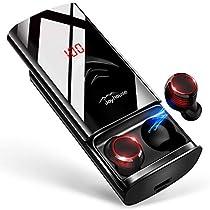 Bluetooth イヤホン LEDディスプレイ Hi-Fi 高音質 3Dステレオサウンド 6000mAh大容量充電ケース付き 完全ワイヤレス イヤホン 自動ペアリング 両耳 左右分離型 AAC8.0/CVC8.0ノイズキャンセリング対応 ブルートゥース イヤホン IPX7防水 音量調整