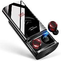 Bluetooth イヤホン LEDディスプレイ Hi-Fi 高音質 3Dステレオサウンド 6000mAh大容量充電ケース付き 完全ワイヤレス イヤホン 自動ペアリング 両耳 左右分離型 AAC8.0/CVC8.0ノイズキャンセリング対応...
