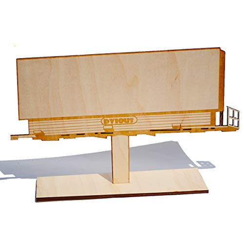 Large Billboard Replica Blank Wood Canvas for Painting, Crafting, Graffiti Street Art, Custom Sign, and More