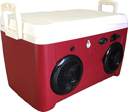 48qt Ice Chest Cooler Radio 200 Watt Amp 2-150 Watt Speakers