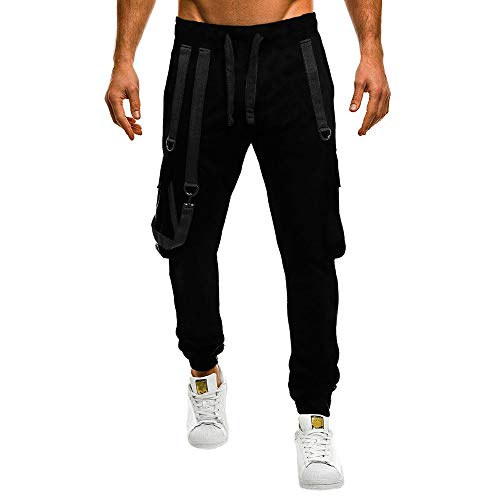 Price comparison product image SMALLE Clearance, Pants for Men,  Camisole Pocket Overalls Casual Pocket Sport Work Casual Trouser Pants