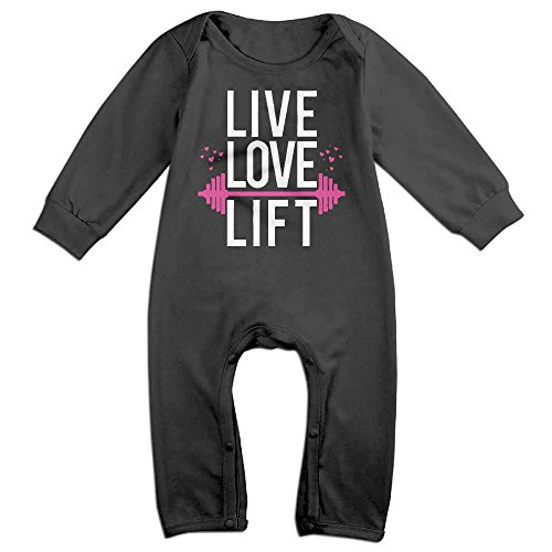 Live Love Lift Long Sleeve Infant Baby Boy Girl Baby Bodysuit for 6-24 Months Bodysuit -