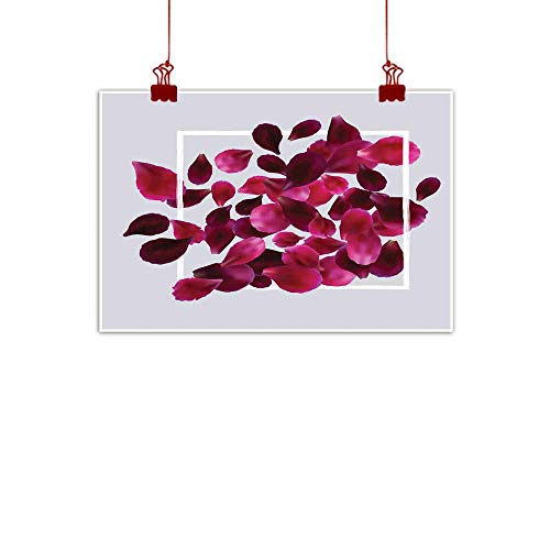 Mannwarehouse Light Luxury American Oil Painting Romantic Background with red Pink Rose Petals Home and Everything 20