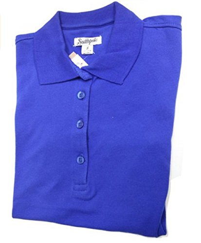 Southpole Juniors Plus-Size Basic Uniform Pique Polo, Royal, 2X