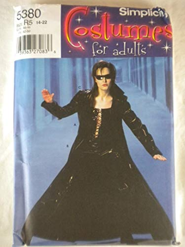 Simplicity Costumes for Adults Pattern 5380 Trinity Matrix Size R5 (14-22)