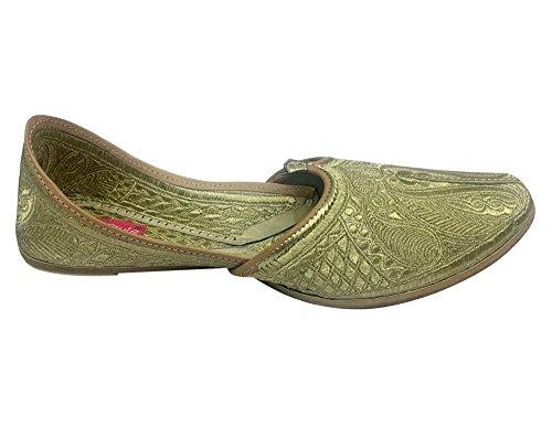 Stap N Stijl Lederen Mannen Punjabi Jutti Traditionele Mojari Khuza Handgemaakte Flip Flops