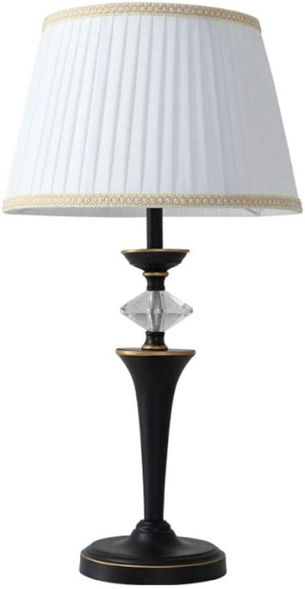 LZY Lámpara de Mesa- Dormitorio Americano Lámpara de cabecera Jardín de jardín Sala de Bodas Lámpara Retro Salón Lámpara de Mesa de Estudio (Color : White, Size : 35x61cm): Amazon.es: Hogar
