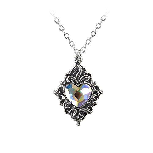 Alchemy Gothic Crystal Heart Pendant