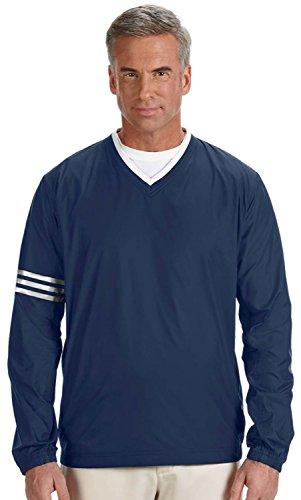 Wind Jacket Golf (adidas Men's Climalite Color Block V-Neck Wind Shirt, Navy, X-Large)