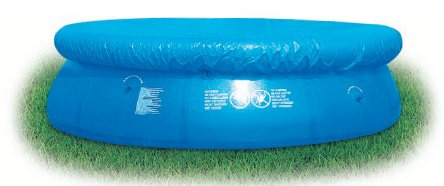 FAST SET POOL COVER 12ft ROUND. BLUE WATERPROOF. KEEP YOUR POOL CLEAN AND CLEAR. Bestway