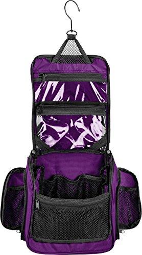 Medium Size Hanging Toiletry Bag with Detachable TSA Compliant Zipper Pocket & Swivel (Hanging Zipper Bags)