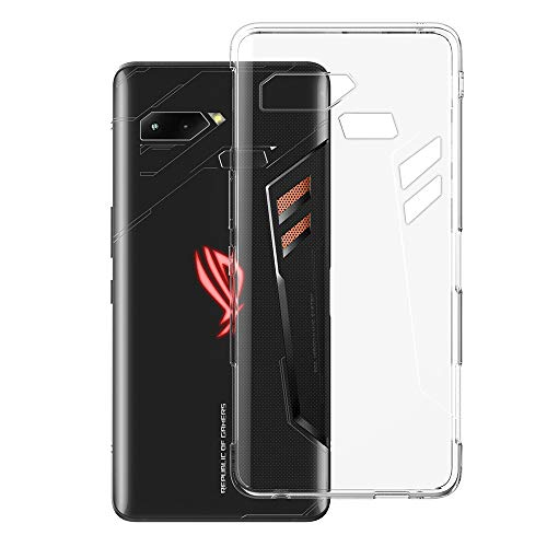 Foluu Compatible ASUS ROG Case, ASUS ROG Case Clear, [Work with Air Triggers] Scratch Resistant TPU Rubber Soft Skin Silicone Protective Case Cover ASUS ROG Phone ZS600KL 6.0 inch (Crystal Clear)