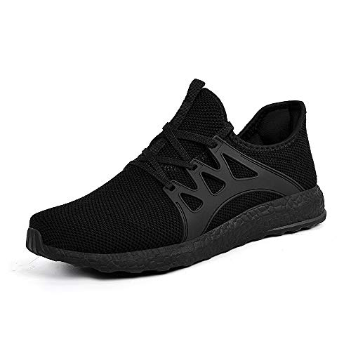 ZONKIM Womens Running Shoes Lightweight Breathable Mesh Non Slip Sneakers Athletic Gym Sports Walking Shoes Black