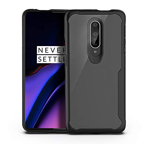 Olixar for OnePlus 7 Pro Bumper Case - Hard Tough Slim Cover - Clear Back - Shock Protection - NovaShield - Black