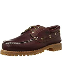 Mens Traditional Handsewn 3-Eyelet Classic Lug, Burgundy/Brown 7.5M